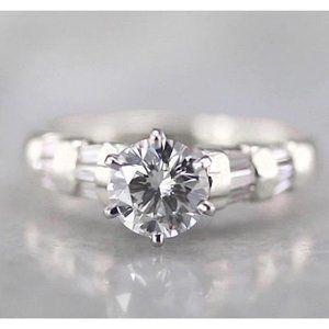 Solitaire Round Diamond Engagement Ring 1.50 Carat